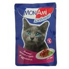 Влажный корм MonAmi для кошек, кролик, пауч, 85 г
