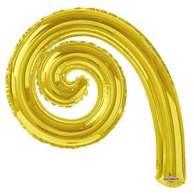 """Шар фольгированный 14"""" Спираль GOLD"""
