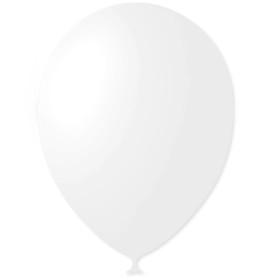 """Шар латексный 12"""", пастель, набор 100 шт., цвет белый"""