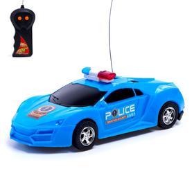 """Машина радиоуправляемая """"Полиция"""", работает от батареек, световые эффекты, цвета МИКС"""