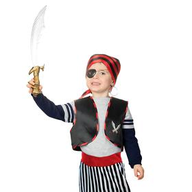 Набор пирата 'Карамба', жилет, бандана, сабля, наглазник, клипса, рост 98-110 см, 3-5 лет Ош