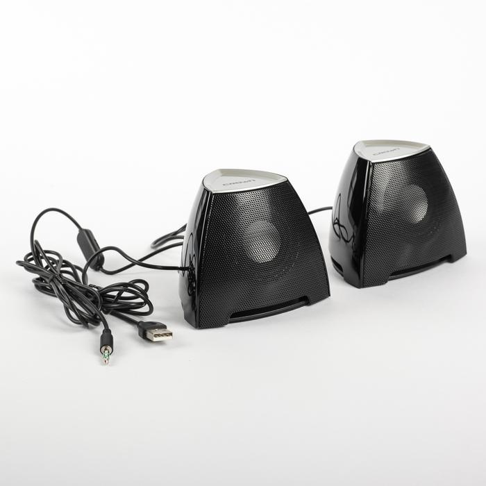 Акустическая система 2.0 CROWN CMS-278, 2х3Вт, USB, черные/серебристые