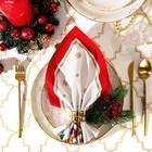 """Салфетка """"Этель"""" Новогодняя сказка (вид 2) 40х40 см, 100% хл, саржа 190 гр/м2"""