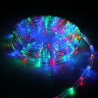 LED шнур 10 мм, круглый, 20 м, чейзинг, 2W-LED/м-24-220V, с контр. 8р, МУЛЬТИ Уценка