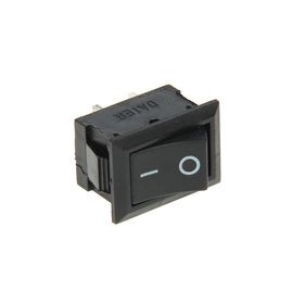 Выключатель клавишный REXANT RWB-201, 250 В, 6А (2с), ON-OFF, Mini, черный Ош