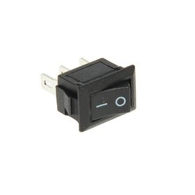 Выключатель клавишный REXANT RWB-102, 250 В, 3А (3с), ON-ON, Micro, черный Ош