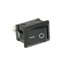 Выключатель клавишный REXANT RWB-202, 250 В, 6А (3с), ON-ON, Mini, черный Ош