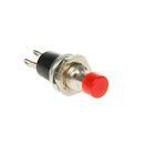 Выключатель-кнопка REXANT RWD-301, металл, 220 В, 2А (2с), ON-OFF, d=7.2, Micro, красная