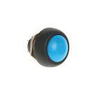 Выключатель-кнопка REXANT PBS-33В, 250 В, 1А (2с), ON-OFF, Б/Фикс, Micro, синяя