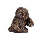 Скульптура «Сова малая» бронза 4х3,5х3,5 см