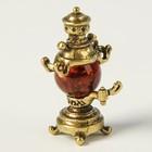 Сувенир «Самовар», натуральный янтарь