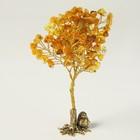 Сувенир «Дерево», с фигуркой, большое, натуральный янтарь