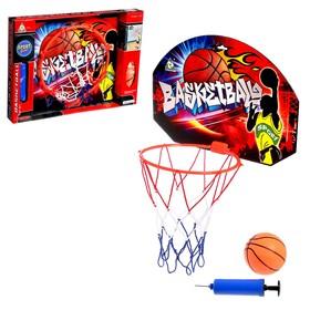 Баскетбольный набор 'Штрафной бросок', с мячом, диаметр мяча 12 см, диаметр кольца 23 см. Ош