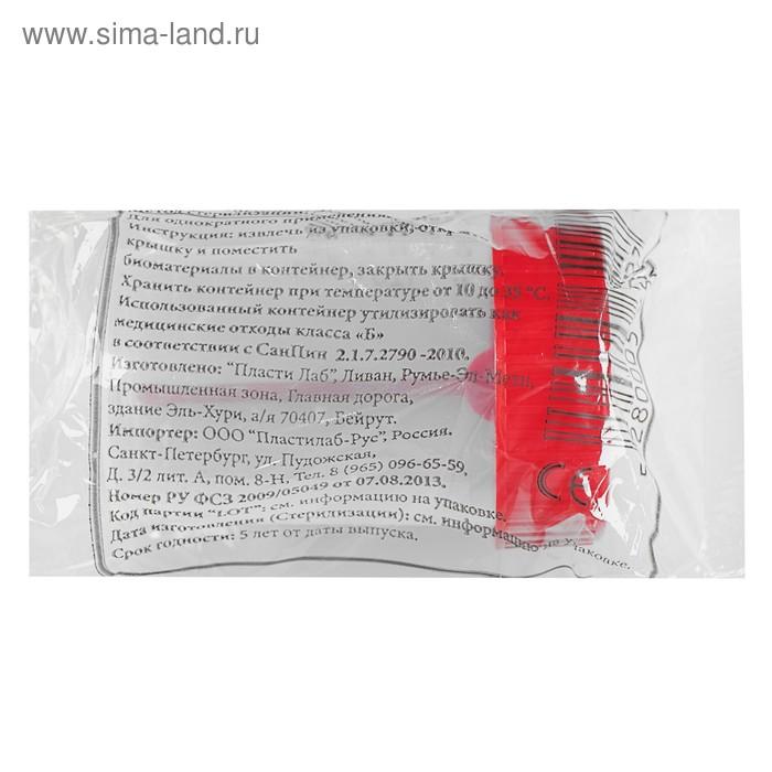 Контейнер полимерный стерильный  с ложкой и наклейкой, 60 мл
