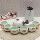 "Набор для чайной церемонии ""Листок"", 7 предметов: чайник 180 мл, чашки 70 мл"