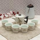 """Набор для чайной церемонии 7 предметов """"Аленький цветочек"""" (чайник 150 мл, чашка 30 мл)"""