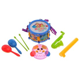Набор музыкальный инструментов, 6 предметов  цвет МИКС