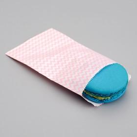 Пакет фасовочный 'Персиковые зигзаги', 8 х 15 см Ош