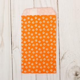 Пакет фасовочный 'Цветочки на оранжевом', 8 х 15 см Ош