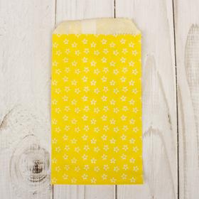 Пакет фасовочный 'Цветочки на желтом', 8 х 15 см Ош