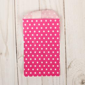 Пакет фасовочный 'Горошек на розовом', 8 х 15 см Ош