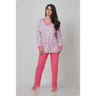 Пижама женская (джемпер, брюки) м-356, цвет розовый, р.44