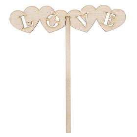 Топпер 'Love' из фанеры, 15х4,5 см (ТПР-231) Ош
