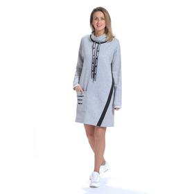 Платье женское 6759, цвет серый, размер 44, рост 164