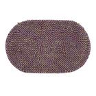 """Коврик для ванной """"Букли"""" 50х80 см, овальный, цвет фиолетовый"""