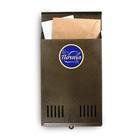 Ящик почтовый вертикальный, без замка (с петлёй), цвет бронзовый