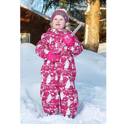 Комбинезон для девочки, рост 86 см, цвет розовый