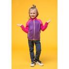 Джемпер флисовый для девочки, рост 104 см, цвет фиолетовый 1fjk505