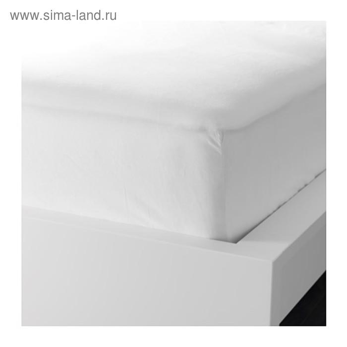 Простыня на резинке ДВАЛА, размер 120х200 см, цвет белый