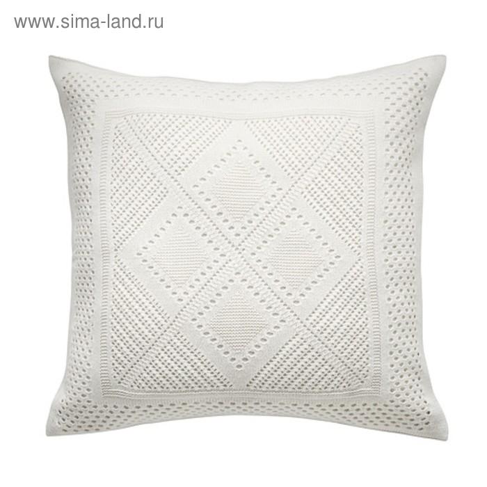 Чехол на подушку ЛАВФЛЮ, размер 50х50 см, цвет белый