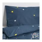 КПБ ХЕММАХОС, размер 150х200 см, 50х70 см-1 шт., цвет тёмно-синий