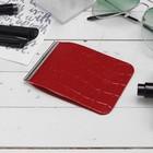 Зажим для купюр ZS60-308, 11*0,5*8см, с металлическим зажимом, крокодил 12 красный