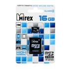 Карта памяти microSD Mirex 16 Gb class 4, с адаптером