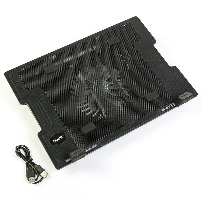 Подставка для ноутбука HAVIT HV-F2015 USB, черная