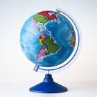 Глобус политический, диаметр 210 мм, с подсветкой от батареек