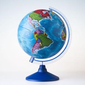 Глобус политический, диаметр 210 мм, с подсветкой от батареек Ош