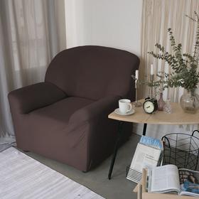 Чехол для мягкой мебели Collorista на кресло,наволочка 40*40 см в ПОДАРОК,шоколадный