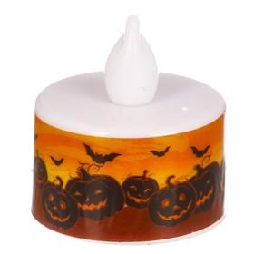 """Свеча-светильник """"Хэллоуин"""", тыквы, 3 х 3.5 см"""