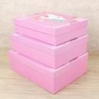 Набор коробок 3в1, 29 х 21,5 х 9,5 - 26 х 18,5 х 6,5 см