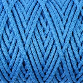 Шнур для вязания с сердечником 100% полиэфир, ширина 5 мм 100м/350гр (14 синий)