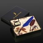 """Сувенирный набор """"Перо с чернилами и 3-мя сменными перьями"""" МИКС 19,5х14,5 см"""