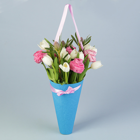 Конус для цветов, эколюкс, микс, 26х14,5 см
