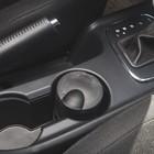 Пепельница для авто с крышкой черная, подсветка, круг батарейка 6,5*10см