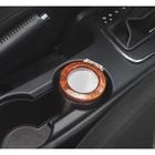 """Пепельница для авто с крышкой """"Lipin r"""" золотая, металл ободок, подсветка, круг бат. 8*10см 263432"""