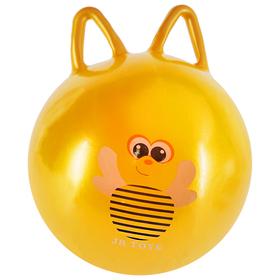 Мяч попрыгун Пчелка с ушками d=45 см, 350 гр, цвет желтый