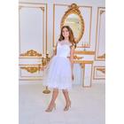 """Свадебное платье """"Джона"""" белое,кружевной корсет,пышная фатин.юбка+фатин с микропаеткой 42-44   28150"""